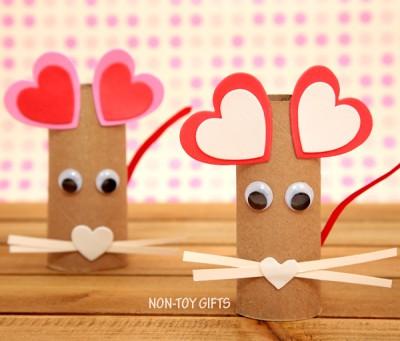 Поделка Мышка-валентинка